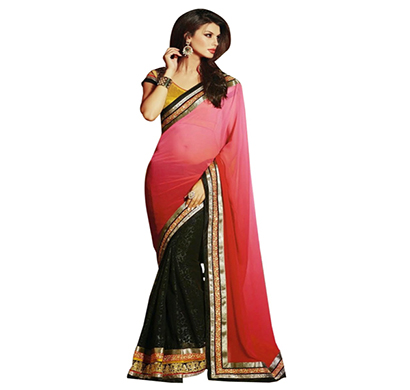 anvi creations designer georgette embroidered saree (assorted)
