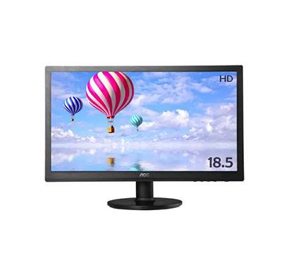 aoc e970pwhen (185lm00019) 18.5 inch hd monitor (black)