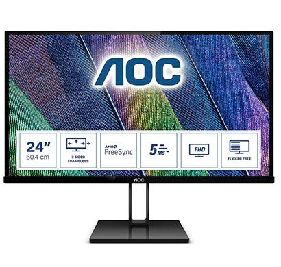 aoc 24v2q 24 inch led ultra slim monitor with hdmi port