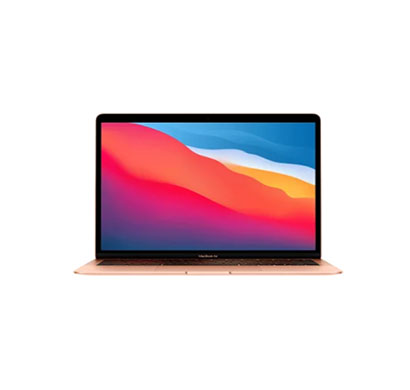 apple macbook air (mgnd3hn/a) laptop (apple m1 chip processor/ 8gb ram/ 256gb ssd/ mac os/ apple m1 gpu/ 13.3 inch display), gold