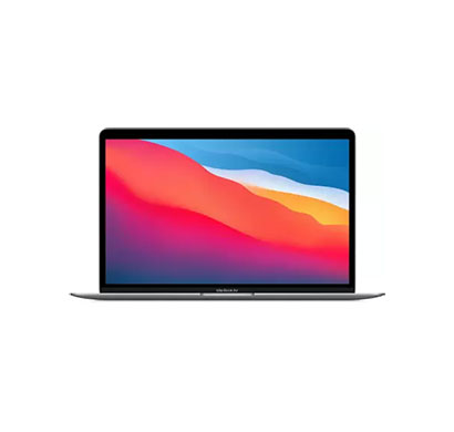 apple macbook air (mgn63hn/a) laptop (apple m1 chip processor/ 8gb ram/ 256gb ssd/ mac os big sur/ apple m1 gpu/ 13.3 inch display), space grey