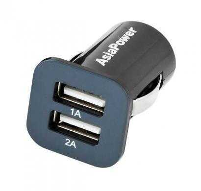 asiapower dual usb car chargers