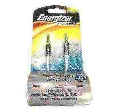 energizer audio stereo cable, metal serie for mobiles black