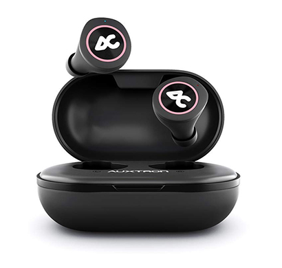 Auxtron AirBolt 505 True Wireless (TWS) Earbuds - Pink + Black