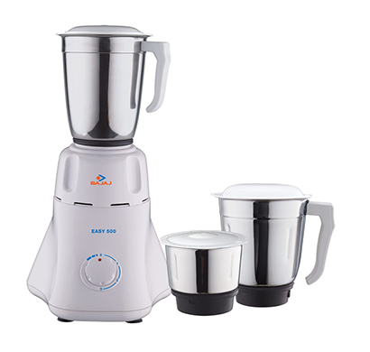 bajaj easy 500-watt mixer grinder ( white)