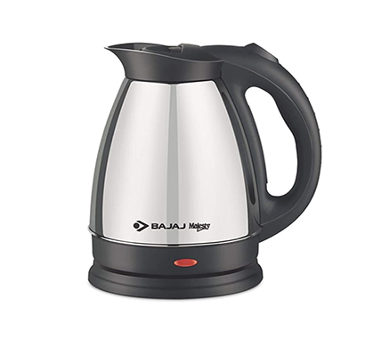 bajaj majesty ktx15 1.7l ss kettle (black and silver)