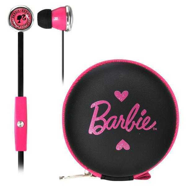 Barbie Earphones with Mic & Case