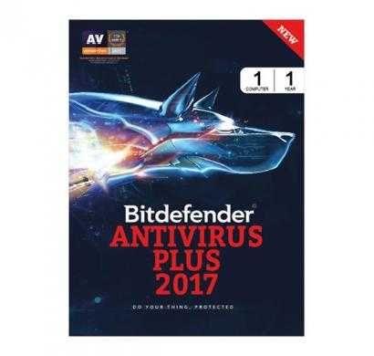 bitdefender antivirus plus 2017 (windows)1 device 1 year