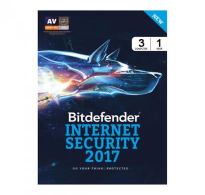 bitdefender internet security 2017 3 device 1 year - activation key