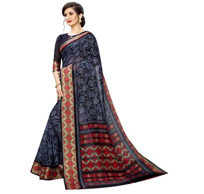 hasti fashion soft cotton different design printed women saree (multicolour)