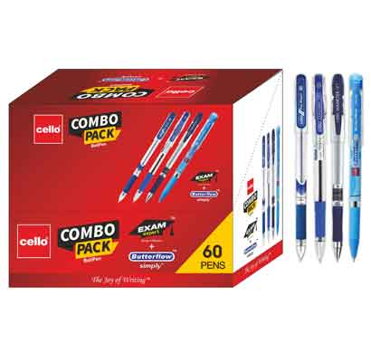 cello pinpoint (pack of 60 pens -blue) cel1000537