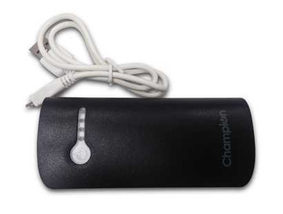 champion mcharge 2c powered by samsung cells 5200 mah power bank  (black, lithium-ion)