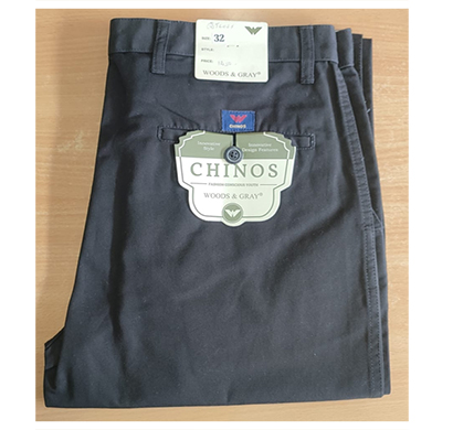 chinos woods & gray cotton men's full pants (multi color)
