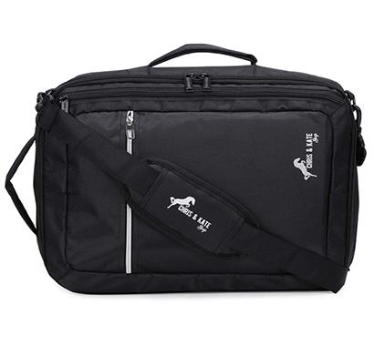 chris & kate ( ckb_295dm) unisex polyester 4-way laptop bag messenger bags (black )