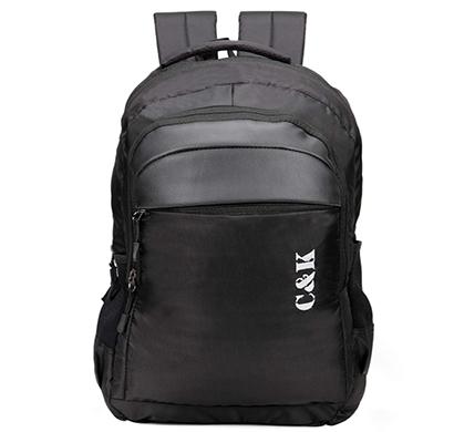 chris & kate ( ckb_311ll) polyester spacious backpack ( black)