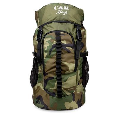 chris & kate ( ckb_186ll) polyester 45 ltrs 28 cms rucksack ( green & grey)