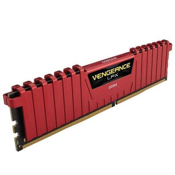 Corsair 8GB (1 x 8 GB) DDR4 Vengeance LPX 2400Mhz C14 Red Kit for X99 Chipset (CMK8GX4M1A2400C14R)
