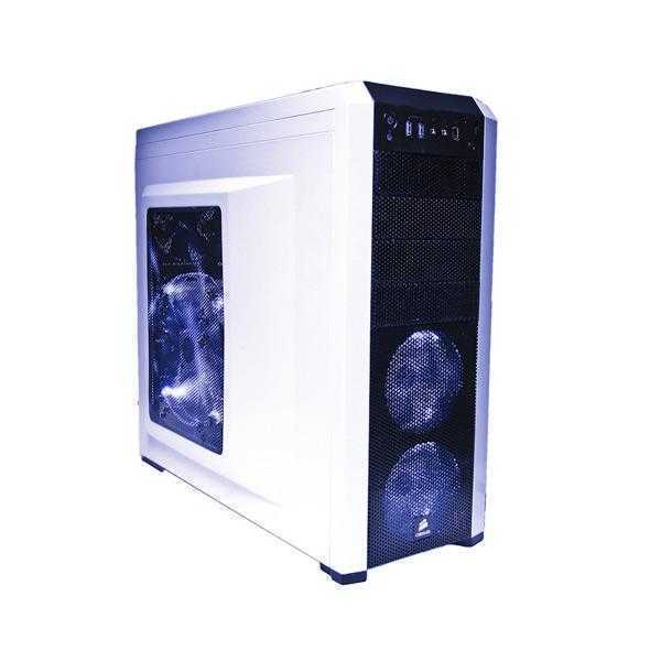 Corsair CC-9011013-WW Carbide Series 500R Steel Mid-Tower Case (Arctic White With Black)