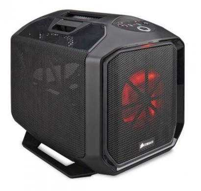 corsair graphite series black steel plastic mini-itx 380t portable mini itx case
