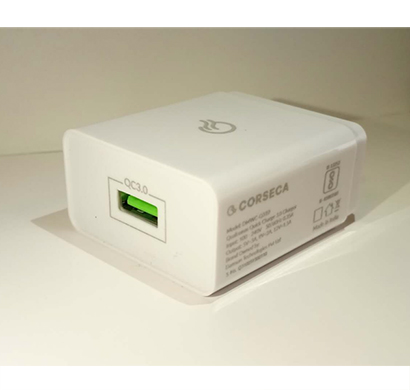 corseca qualcom (dmwc -q310) smart charge adapter supports qualcomm qc 3.0 ( white)