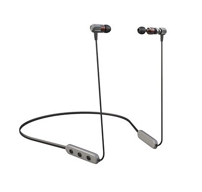 corseca (dm4830) hoop3 bluetooth stereo wireless sports earphone with built-in mic magnetic buds (grey and black)