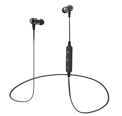 corseca (dm4820) hoop2 sports wireless bluetooth earphone with hi-fi stereo sound deep bass magnetic buds (black and grey)