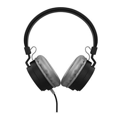 corseca (3213) hd stereo sound on ear light wired headphones with mic and 40mm drivers for enhanced bass (multicolour)