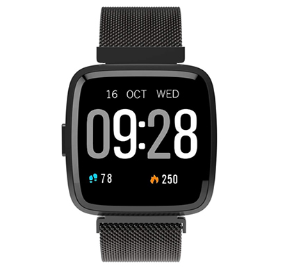 corseca fittex (dmw6094) health and fitness smart watch with multi functional touchscreen message push pedometer bp and heart rate monitor (black)