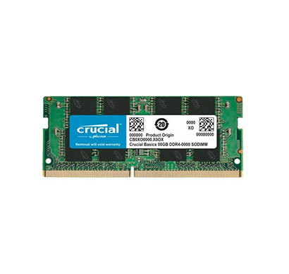 crucial (cb8gs2666) 8gb ddr4 2666mhz sodimm laptop memory