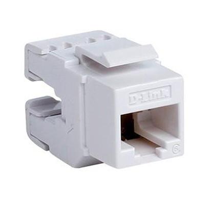 d-link (nkj-c6whi1b21) cat6 keystone jack utp (white)