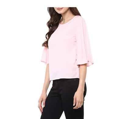 daisy look women's regular fit top light pink (wrft2)
