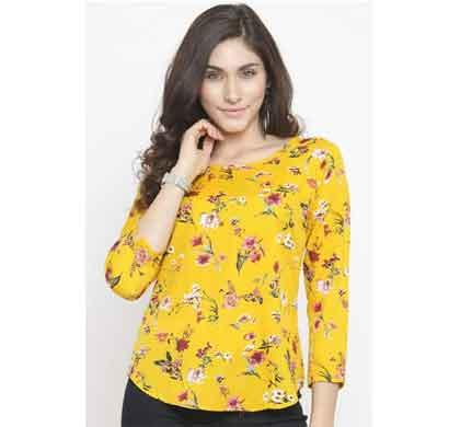 daisy look yellow flower women's regular fit top (yfpt4)