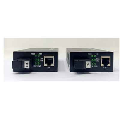 dax media converter for 10/100/1000 single node fiber sc interface 1550/1310nm as a pair (dx-mc5320usgc)