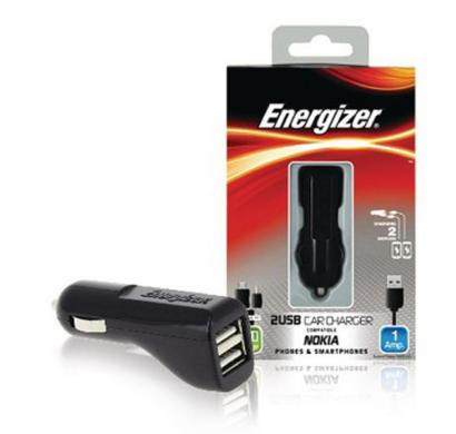 energizer classic car charger 2 usb for micro usb devices black