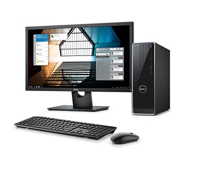 dell inspiron 3471 desktop pc ( intel core i3-9100/ 9th gen/ 4gb ram/ 1tb hdd/ dos/ 19.5