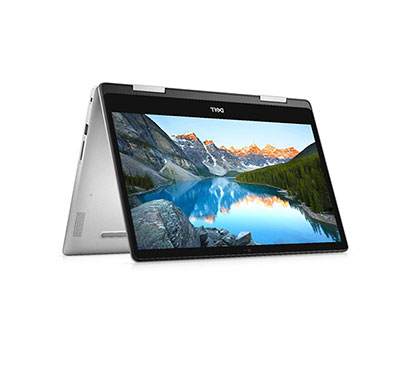 dell inspiron 5491 2in1 touchscreen laptop (intel core i3--10110u/ 10th gen/ 4gb ram / 256gb ssd/ windows 10 + ms office/ integrated graphics/ 14 inch) platinum silver