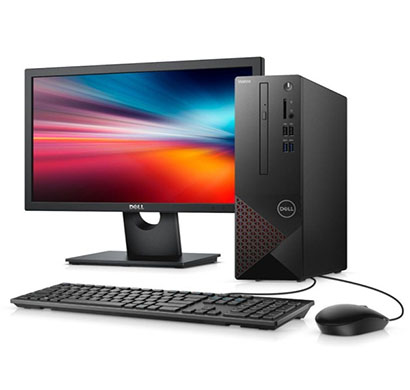 dell vostro 3681 desktop (intel core i5-10400 (6-core, 12m cac he, 2.9ghz to 4.3gh )/ 10th gen / 8gb ram/ 1tb hdd/ no dvd/ dos/ 18.5 inch monitor/ dell keyboard + dell optical mouse/ 3 years warranty) black