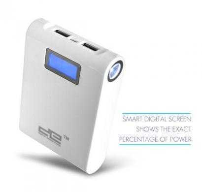 digital essentials 10400 mah white power bank