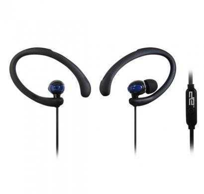 digital essentials active sports earhooks w/mic - blue