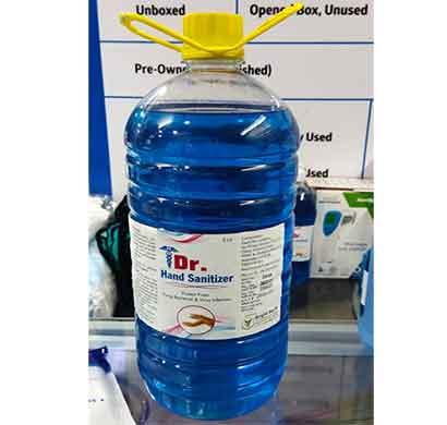 dr. hand sanitizer 70% alcohol (5ltr) pet bottle