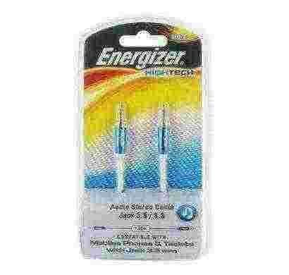 energizer audio stereo cable, metal serie for mobiles1,5 m  blue