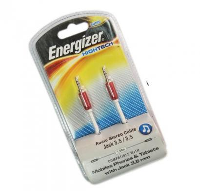 energizer audio stereo cable, metal serie for mobiles1,5 m red