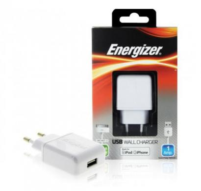 energizer classic wall charger 1 usb for iphone 3/4 (eu plug) white