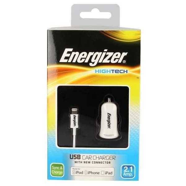 Energizer High Tech In car charger (10Watts) with Lightning connector