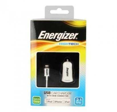 energizer hightech car charger 1 usb for iphone 4/4s white