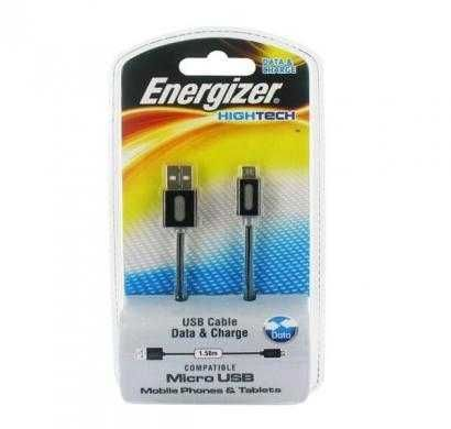 energizer hightech micro usb 1.5 usb cable black grey