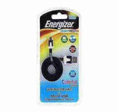 energizer hightech ultra flat  micro-usb cable charge + data - black