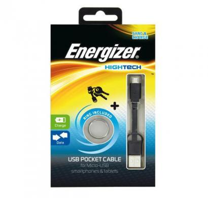energizer pocket cable micro-usb charge + data - black