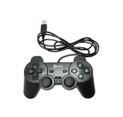 enter usb game pad with vibration e-gpv (black)