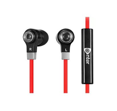 enter e-ep7m-r earphone with mic black